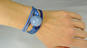 Bracciale Maxi Boulle - 17) Azzurro Polvere