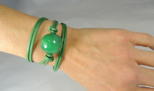 Bracciale Maxi Boulle - 22) Verde smeraldo