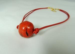 Girocollo sfera bugnata - 36) Corallo