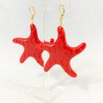 Orecchini Stella marina rossa