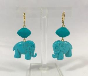 Orecchini Elefantino turchese