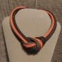Collier nodo - 88) Arancione/Marrone/Tortora