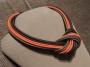 Collier nodo - 88) Arancione/Marrone/Tortora (vista laterale)