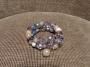 Bracciale spirale basso - 72)  Beige/Azzurro Polvere/Grigio Cenere