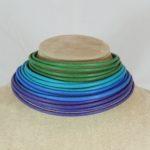 Collier de chain a fascia -  67) Verde Smeraldo/Turchese/Blu Royal/Viola