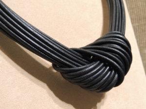 collier nodo nero - particolare