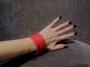 Bracciale a fascia -  11) Rosso