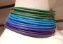 Collier de chain a fascia - 67) Verde Smeraldo/Turchese/Blu Royal/Viola (particolare)