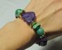Braccialetto rigido fantasia -  59) Verde Smeraldo/Viola