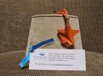 Portachiavi-charms Stella arancione plexi