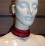 Collier de chain a fascia - 11) Rosso (sfumato)