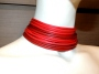 Collier de chain a fascia - 11) Rosso (sfumato)  - particolare