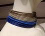 Collier de chain a fascia -  91) Tortora/Azzurro  (particolare)