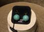 Orecchini sfera liscia -  21) Verde Giada