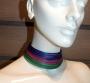 Collier de chain a fascia -  87) Viola/Rubino/Verde Petrolio