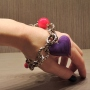 """Bracciale """"Enchained Heart"""" -  97) Viola/Rosso"""