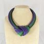 Collier nodo -  59) Verde Smeraldo/Viola