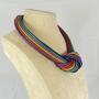 Collier nodo -  50) Multicolor -   vista laterale