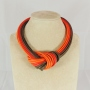 Collier nodo -  61) Arancione/Rosso/Marrone
