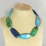 Collana foglioline -  84) Verde Smeraldo/Turchese Mare/Blu Navy