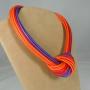 Collier nodo -  60) Arancione/Rosso/Viola