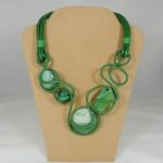 "Collier ""Precious Weavings"" -  Smeraldo"