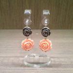 Orecchini rosellina doppia