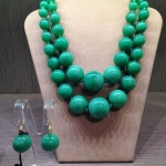 Coppia collane a gradazione - 22) Verde Smeraldo