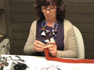 Sandra al lavoro sulle nuova collezione... stay tuned!