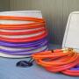 Collier e bracciale fascia - 60) Arancione/Rosso/Viola