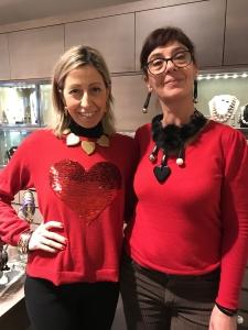 """Raffy e Sandra presentano i nuovi pezzi della collezione """"San Valentino""""... venite a scoprirli in negozio."""