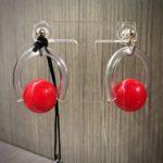 """Orecchini  """"Space Spheres"""" piccoli  11) Rosso"""