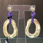 Orecchini con anello martellato 14) Viola