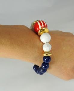 braccialetto rigido bianco-rosso-blu