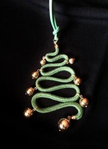 Ciondolo Albero di Natale in passamaneria -  P/O) Oro