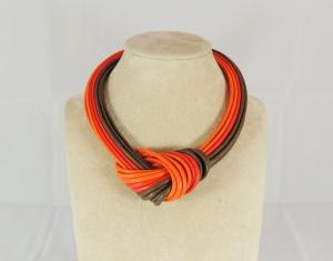 Collier nodo - arancione/marrone