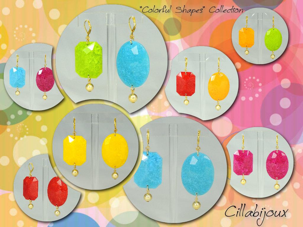 Colorful shapes orecchini