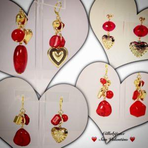 """Vetrina di orecchini a tema """"San Valentino"""""""